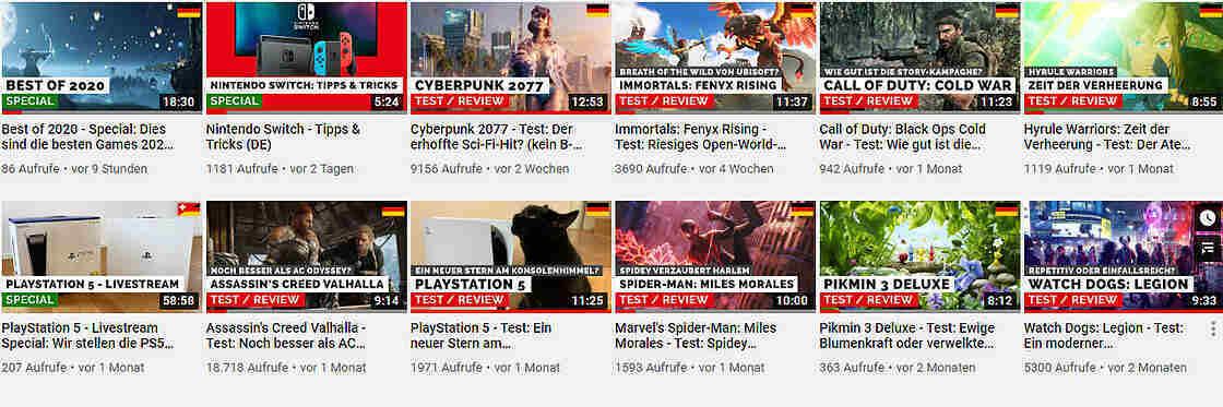 GAMES.CH on YOUTUBE